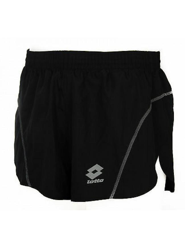 Pantalone corto runner uomo short LOTTO art. L0695 taglia XL col. NERO BLACK