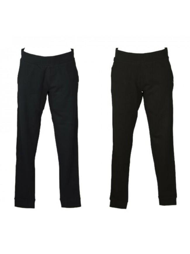 Pantalone donna cotone jersey stretch estivo con tasche e polsino comodo sportiv