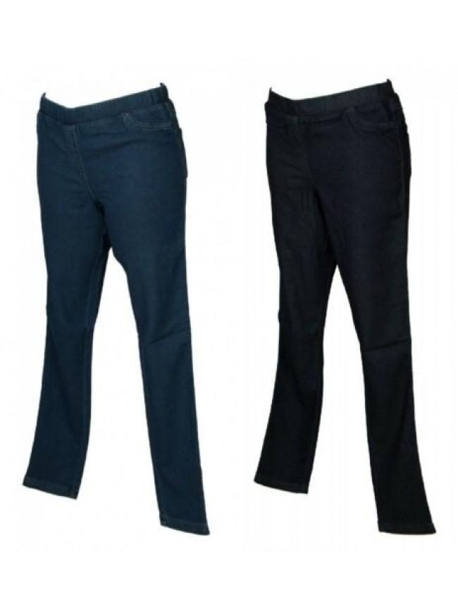 Pantalone lungo tempo libero pantaloni comfort 5 tasche in denim donna RAGNO art
