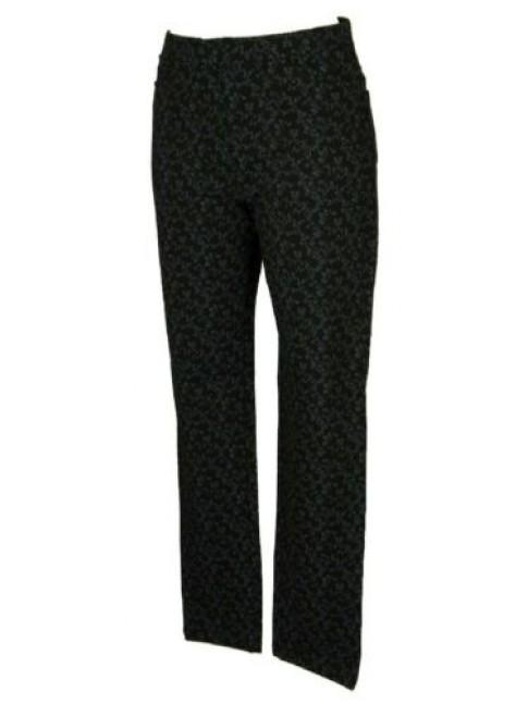 Pantalone lungo tempo libero pantaloni comfort 5 tasche in denim elastico donna