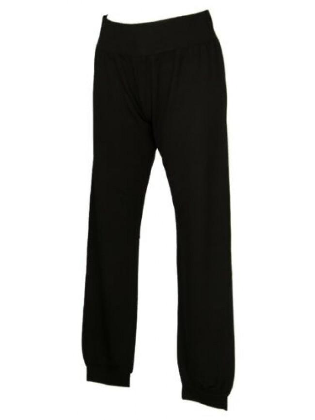 Pantalone lungo tempo libero pantaloni comfort donna viscosa con bordo RAGNO art