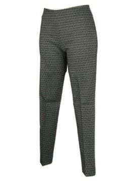Pantalone lungo tempo libero pantaloni donna jaquard effetto cravatier RAGNO art