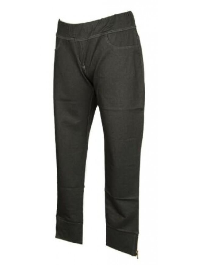 Pantalone lungo tempo libero pantaloni jeans elastico stretch donna RAGNO artico