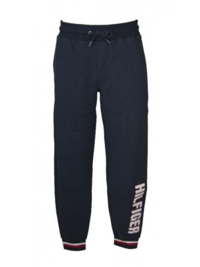 Pantalone lungo uomo felpa invernale con tasche e polsino sport tempo libero TOM