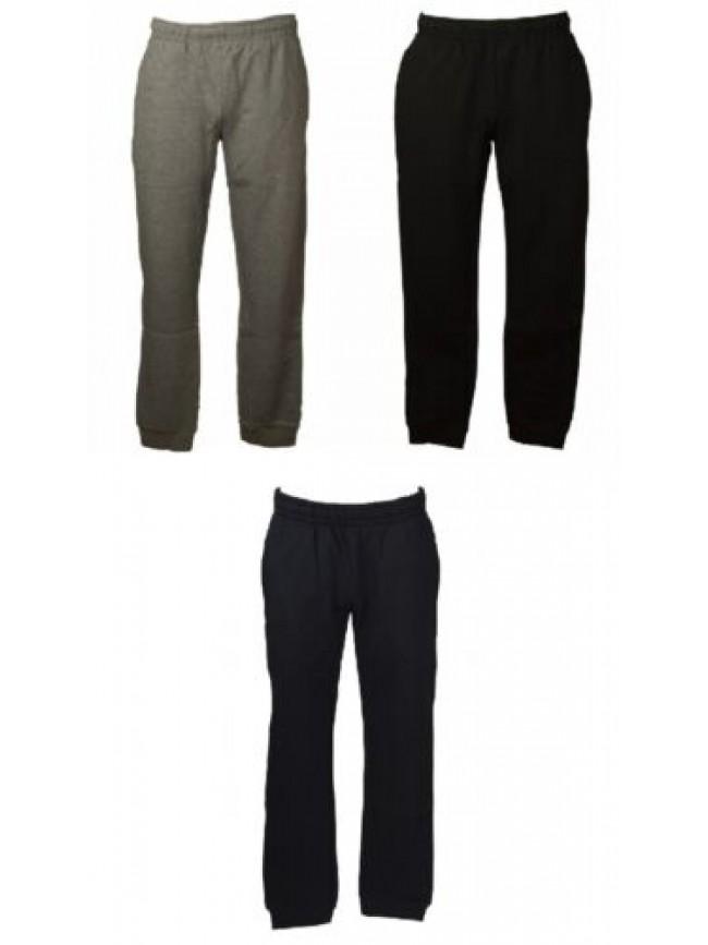 Pantalone uomo flli.CAMPAGNOLO felpato invernale pettinato con coulisse e tasche