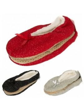 Pantofola babbuccia casa donna antiscivolo calzino fiocco CIOCCA articolo 775/2A
