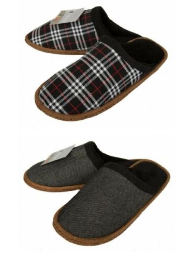 Pantofola casa uomo suola antiscivolo homewear CIOCCA articolo 512/U CIABATTA