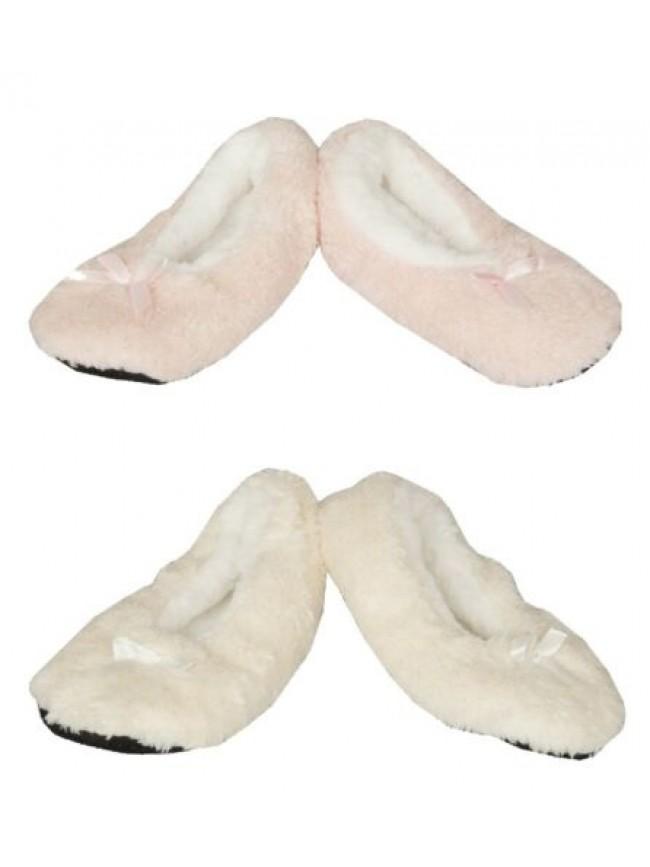 Pantofola ciabatta babbuccia ballerina casa donna pelo antiscivolo sparkling fio