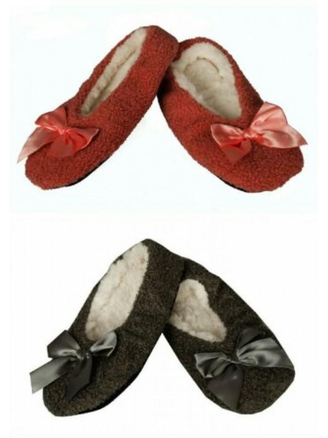 Pantofola ciabatta ballerina casa donna pelo antiscivolo fiocco homewear CIOCCA