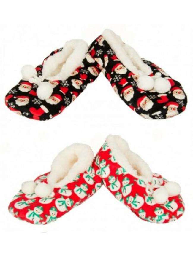 Pantofola ciabatta ballerina casa donna pelo antiscivolo pon pon homewear CIOCCA