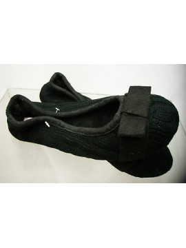 Pantofola ciabatta ballerina donna slippers DOING collyn T.40-41 c.21 nero gift