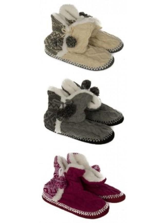 Pantofola stivaletto casa donna antiscivolo calzino CIOCCA articolo 763/2A