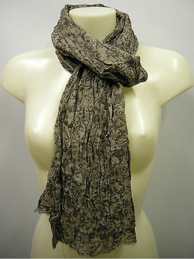 Pashmina sciarpa scarf SWEET YEARS a.LF39 colore 4 noce teschio skull Italy