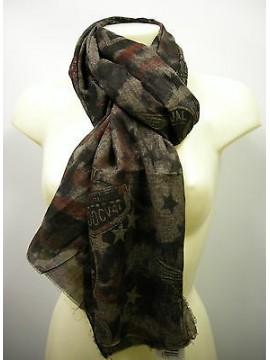 Pashmina sciarpa scarf SWEET YEARS art.LF32 colore 5 marrone brown Italy