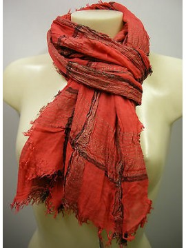 Pashmina sciarpa scarf SWEET YEARS art.LF68 colore 1 rosso red Italy