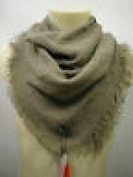 Pashmina sciarpa scarf unisex PIERRE CARDIN art.L1513 P001 col.5 tortora Italy