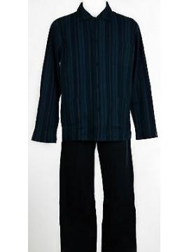 Pigiama aperto uomo homewear RAGNO art.N21552 taglia XL/6 colore 038F INDACO