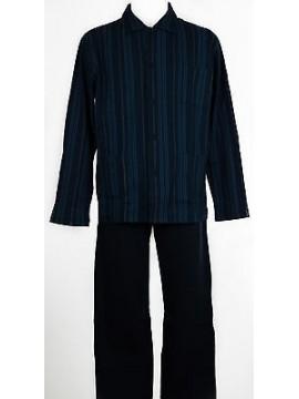 Pigiama aperto uomo homewear RAGNO art.N21552 taglia XXL/7 colore 038F INDACO