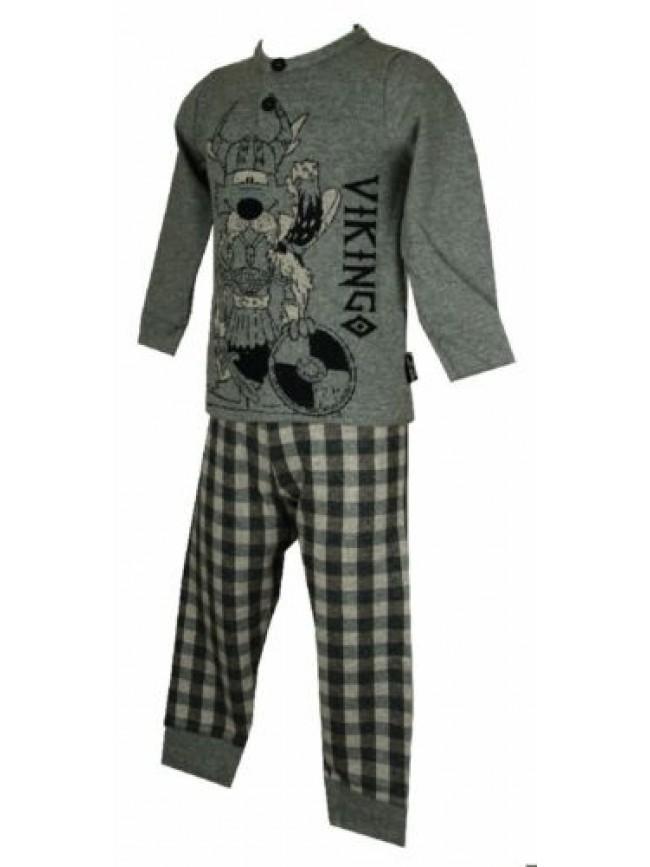 Pigiama bambino ragazzo manica lunga collo serafino sleepwear HAPPY PEOPLE artic
