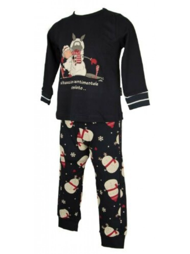 Pigiama bimba bambina manica lunga girocollo cotone interlock sleepwear HAPPY PE