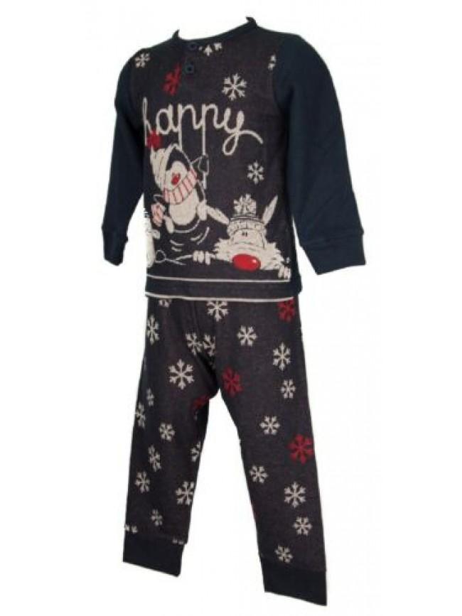 Pigiama bimbo bambino manica lunga collo serafino sleepwear HAPPY PEOPLE articol