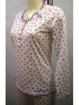 Pigiama cotone donna pajamas cotton woman RAGNO N70411 T.2/XS c.143F fant lilla