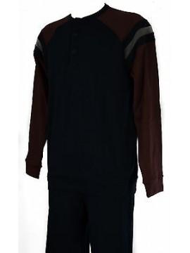 Pigiama cotone uomo homewear RAGNO art. N22881 taglia M/4 colore 078F BLEU