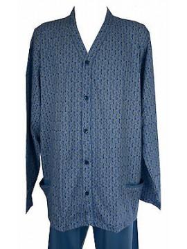 Pigiama lungo aperto uomo pajamas AMBIZIONE art. 1805 taglia 60/5XL col. 180 PRO