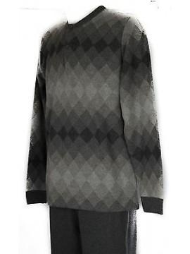 Pigiama lungo uomo homewear RAGNO art. N23161 taglia XXL/7 colore 104MF FUMO