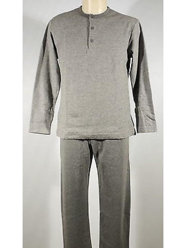 Pigiama serafino homewear cotone uomo RAGNO art.N20111 T.3 col.135MF grigio mel