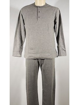 Pigiama serafino homewear cotone uomo RAGNO art.N20111 T.7 col.135MF grigio mel