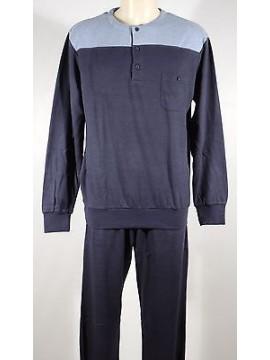 Pigiama serafino homewear cotone uomo RAGNO art.N20131 T.7 col.079F blu navy