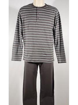 Pigiama serafino homewear cotone uomo RAGNO art.N20161 T.7 col.161F ematite