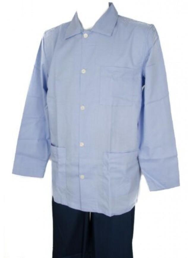 Pigiama uomo cotone manica lunga aperto con bottoni RAGNO articolo N20702