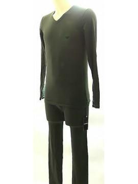 Pigiama uomo pantacollant pajamas EMPORIO ARMANI 111022 3A725 T.M c.02181 verde