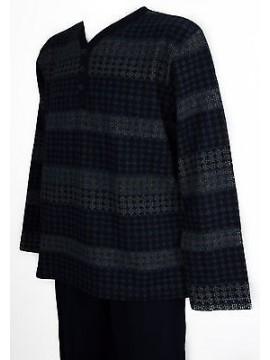 Pigiama uomo pile homewear RAGNO art.N21541 taglia XXL/7 colore 078F BLEU