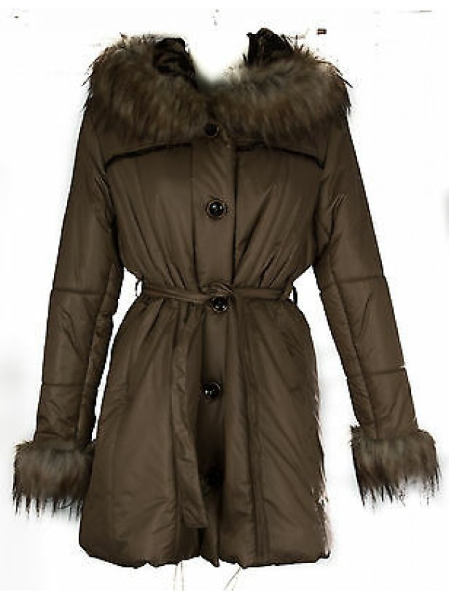 Piumino giaccone cappotto donna WWOMAN art. DAFNE taglia XL col. CORDA Italy