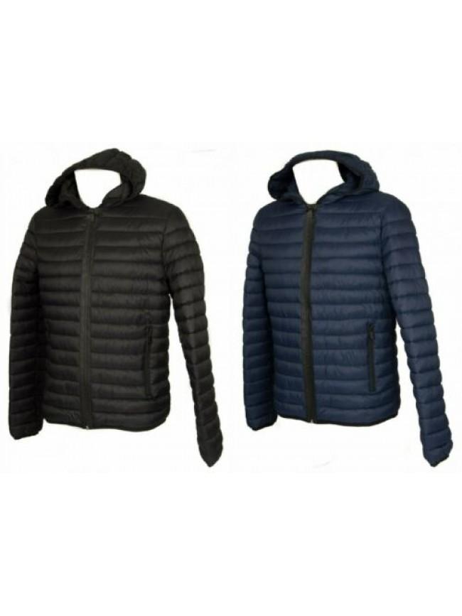Piumino giubbotto giacca uomo con cappuccio zip e tasche TRUSSARDI JEANS articol