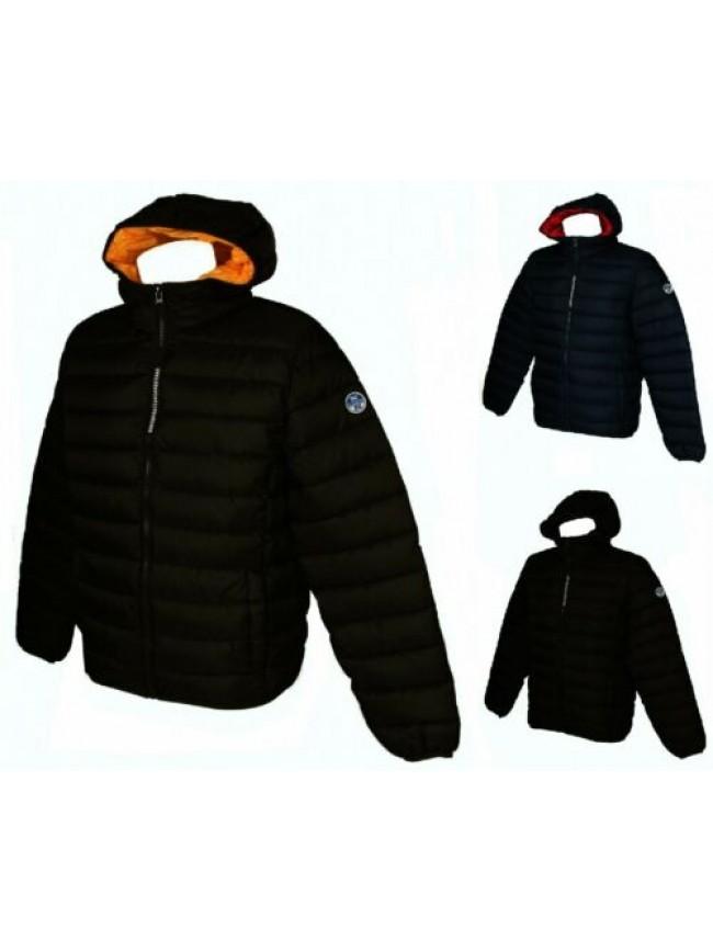 Piumino giubbotto giaccone giacca uomo con cappuccio zip e tasche NORTH SAILS ar
