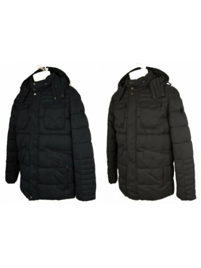 Piumino giubbotto giaccone uomo cappuccio staccabile con zip e clip  ASCOT SPORT