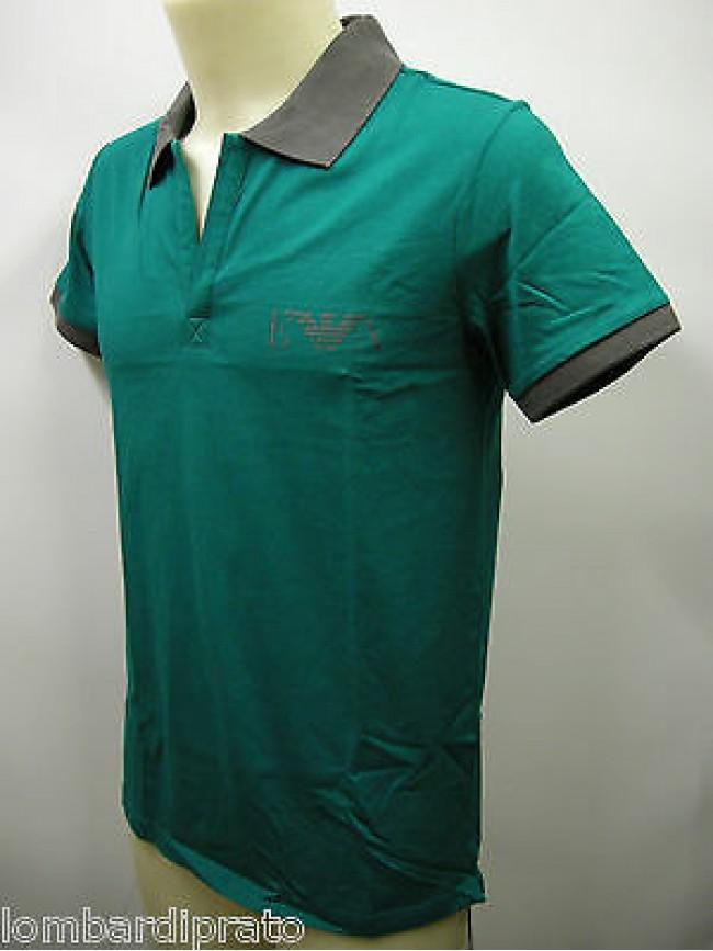 Polo t-shirt maglietta uomo EMPORIO ARMANI 211047 3P466 T.S/46 c.06834 pavone
