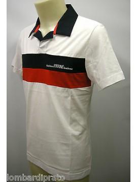 Polo t-shirt maglietta uomo GIANFRANCO FERRE' art.PLO34004 T.46 col.001 bianco