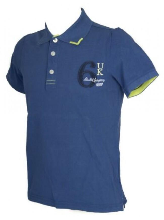 Polo uomo manica corta t-shirt colletto bottoni cotone KEY-UP articolo 2174Q