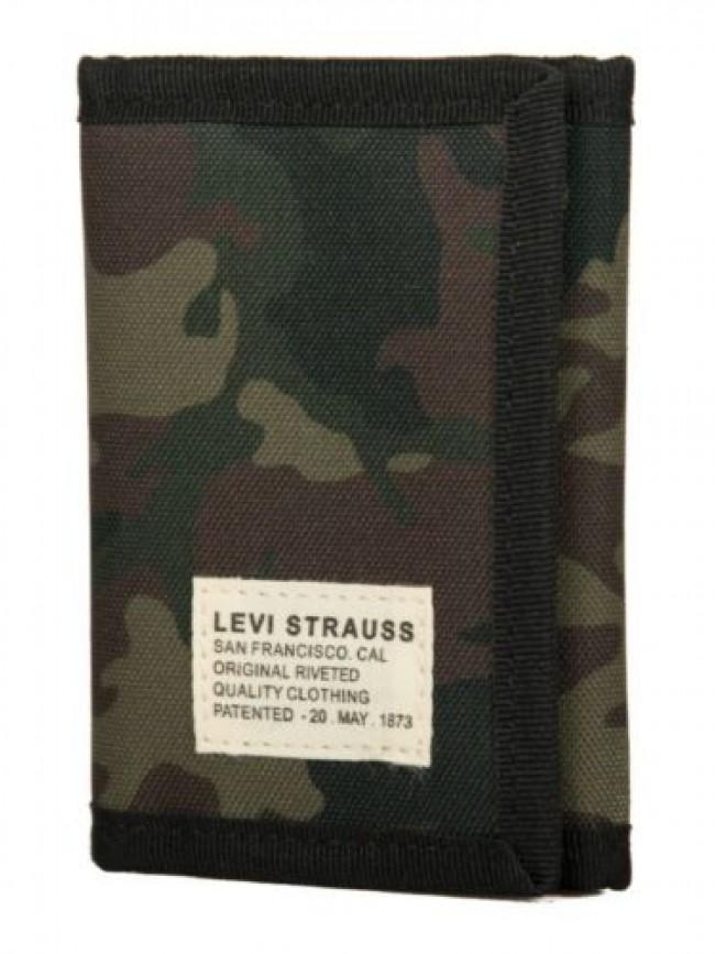 Portafoglio in tessuto con apertura a strappo LEVI'S articolo 230980 no horse pu