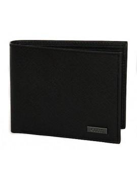 Portafoglio pelle uomo wallet GUESS a. SM3090 LEA20 cm 12x9,5 c. BLA NERO BLACK