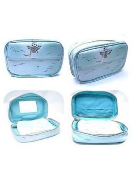 Portafoglio pochette wallet cartera specchio donna Armani Rihanna celeste regalo