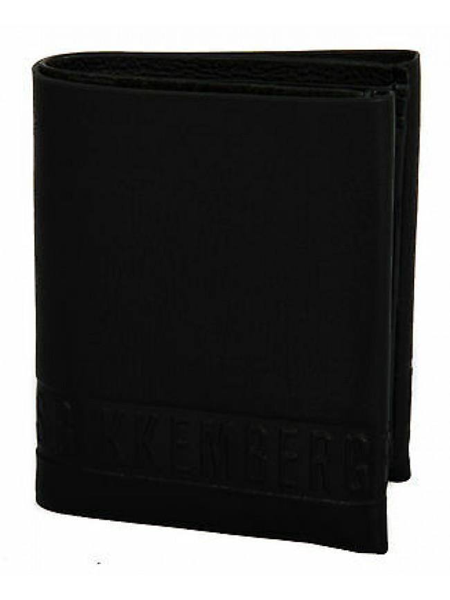 Portafoglio uomo pelle wallet BIKKEMBERGS art. D1306 col. D01 NERO BLACK