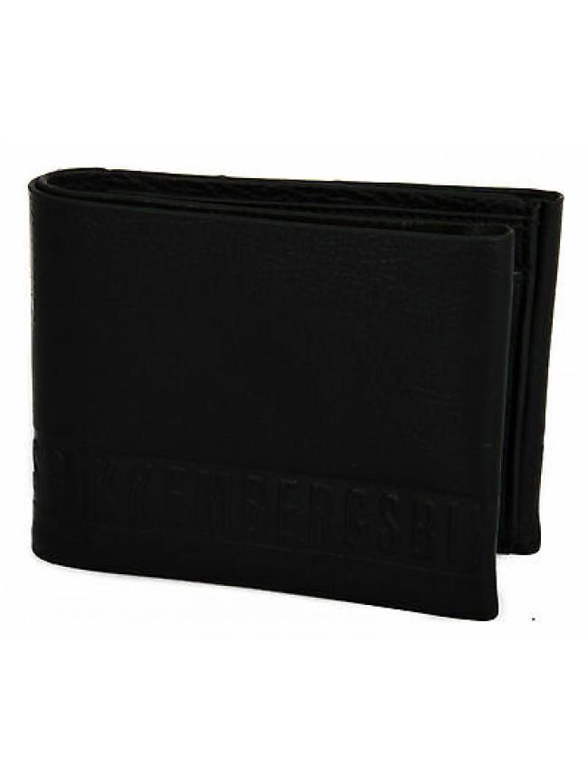 Portafoglio uomo pelle wallet BIKKEMBERGS articolo D1301 colore D01 NERO BLACK