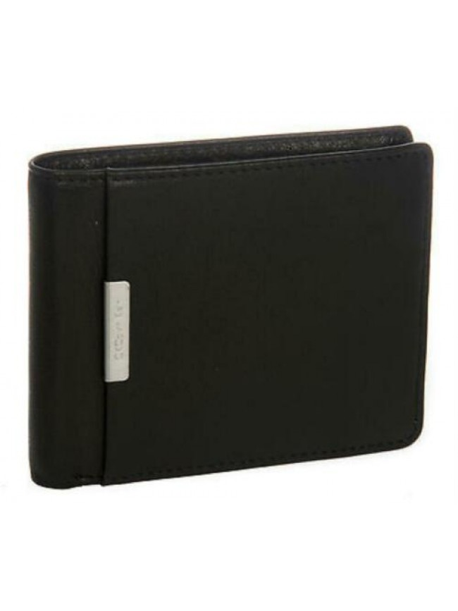Portafoglio uomo pelle wallet CK CALVIN KLEIN a.KCR118 col.999 NERO BLACK