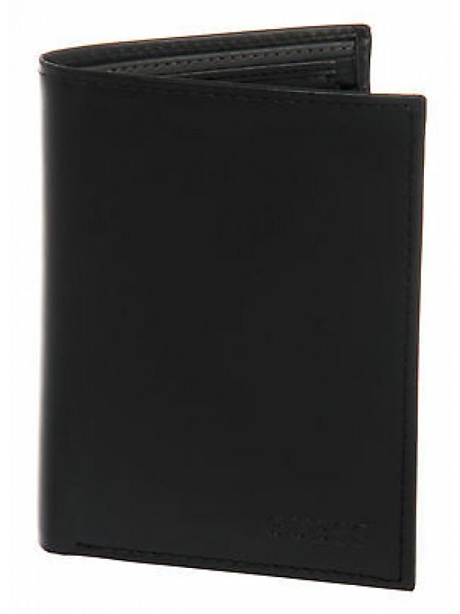 Portafoglio uomo pelle wallet GUESS SM0205 LEA51 cm 9,5x10,5 colore NERO BLACK